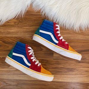 VANS Boys SK8 HI Color Block Hi Top Sneakers